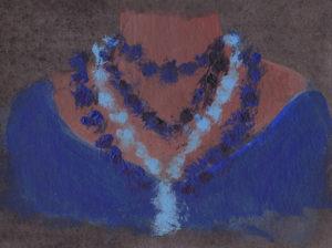 Meridiane Halsketten blau