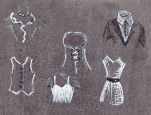 Meridiane Schnittmuster Kleidungstücke