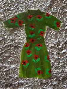 Meridiane Kleidung Energiebild Tuelkleid gruen