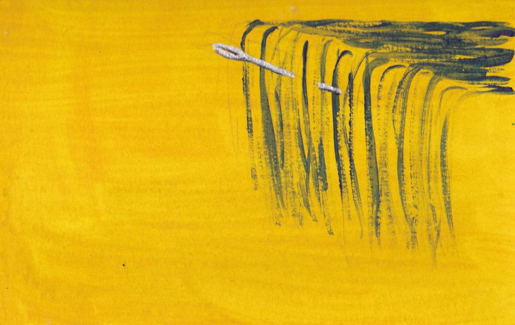 Heilbild Wasserfall mit Nadel