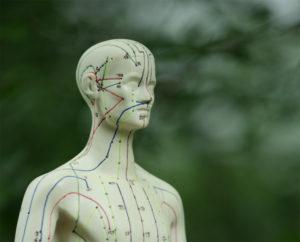 Mann Akupunktur