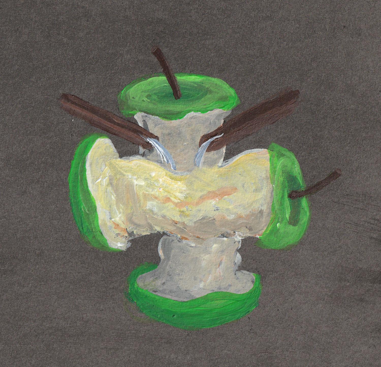Apfelstrunk Wasser