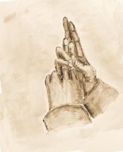 Schwert Mudra Fingerzeichen