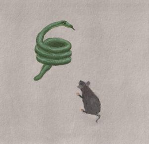 Angst Starre Maus