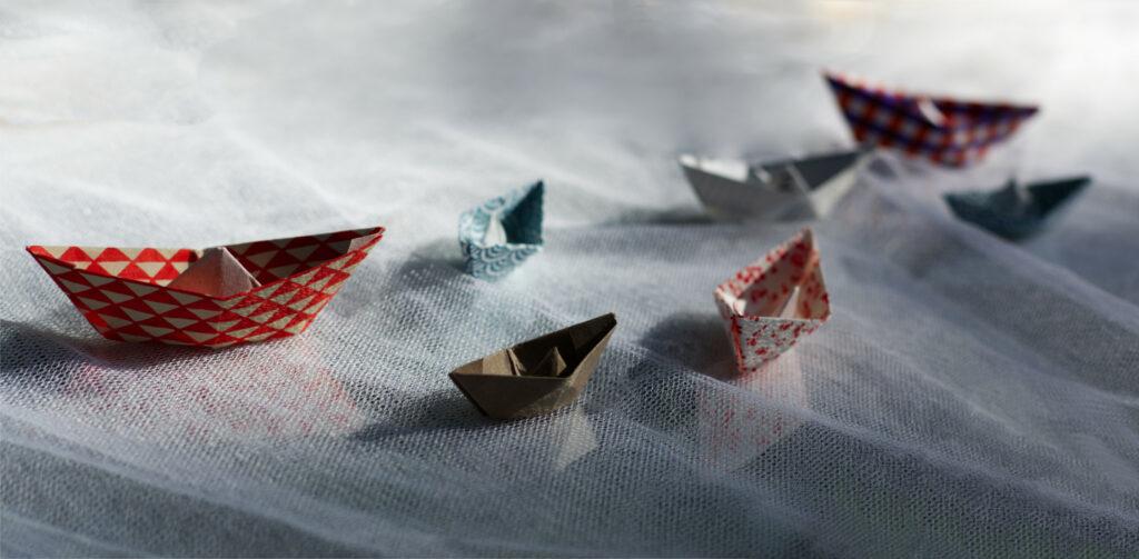 Papierschiff Origami